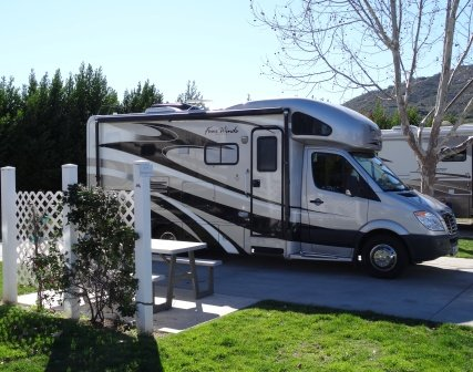 RV and fence