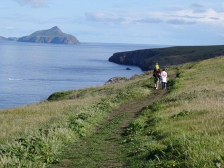 Hiking trail on Santa Cruz Island