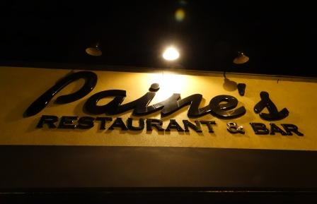 Paine's restaurant sign lights the way to a good meal in Hollister