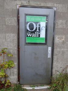 Doorway to studio