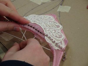 Adding gems to tiara