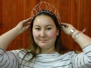 Erin wearing tiara