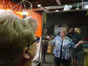 Phyllis trying on tiara