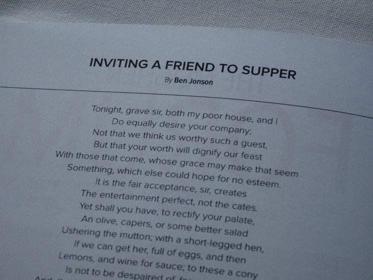 Ben Jonson poem