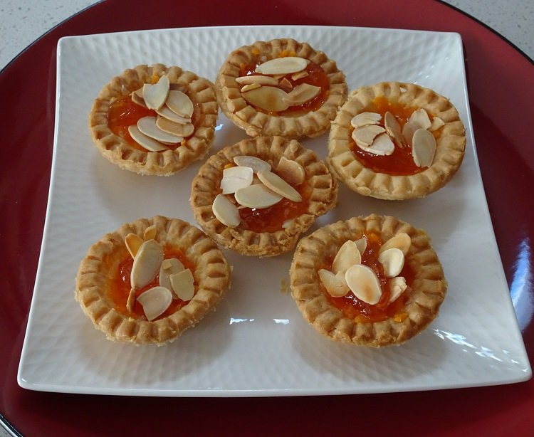 Cheese, Crabapple, Almond Tarts