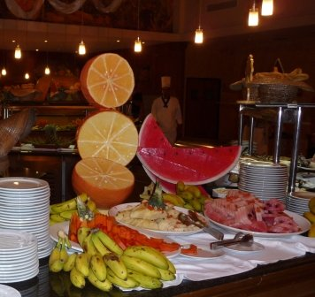 Colorful buffets at our hotel in Varadero