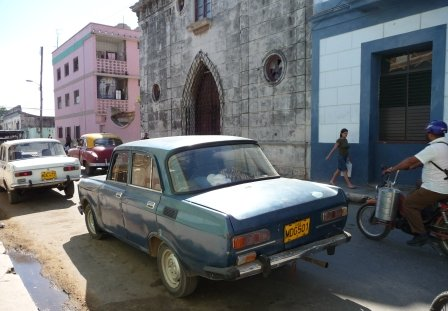 Old Ladas in the streets of Cardenas