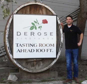 Mike Fisher's catering kitchen is located at DeRose Vineyards