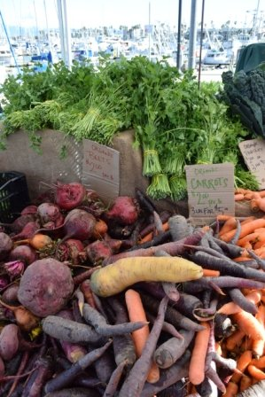 Seasonal vegetables at the market