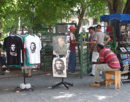 Che Guevara is seen everywhere