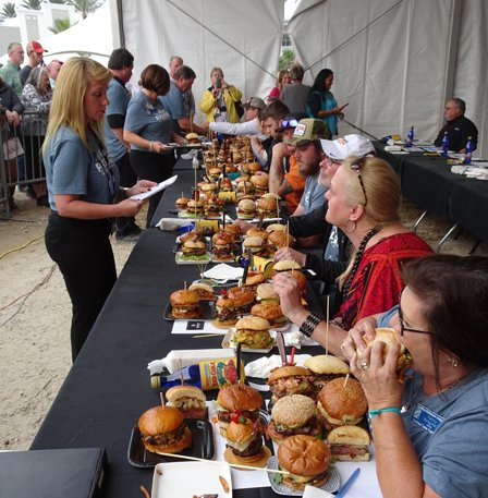 Darie O'Connor and other burger judges.