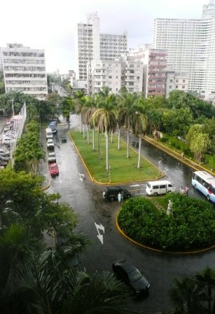 View from our window at the Hotel Nacional