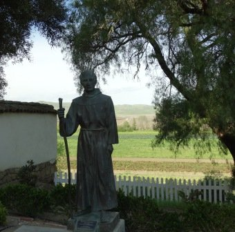 Looking over the row crops from Mission San Juan Bautista