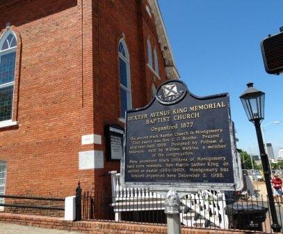 Dexter Avenue King Memorial Baptist Church plaque