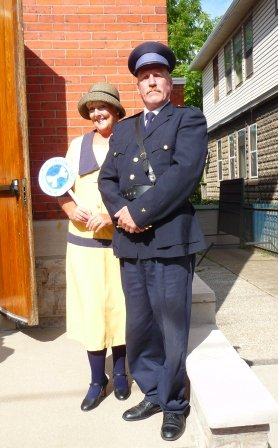 E Temperance woman and policeman