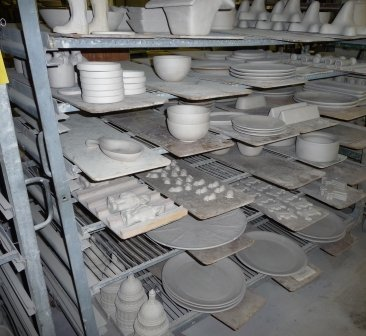 H Greenware dries
