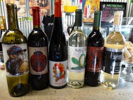 Jules J Berta Winery Wine bottles