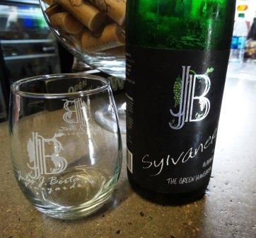 Jules J Berta Winery bottle and glass