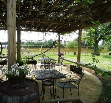 Jules J Berta Winery patio