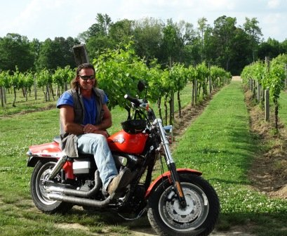 Jules J Berta on his bike