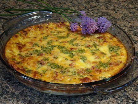 Bacon, Sun-Dried Tomatoes and Chives Quiche Recipe