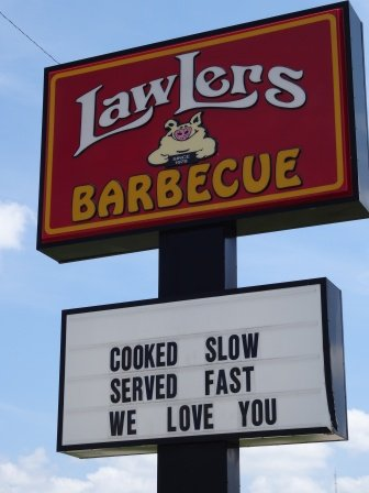 Lawler's Barbecue Sign DS
