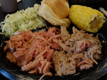 Lawler's Barbecue corn plate DS