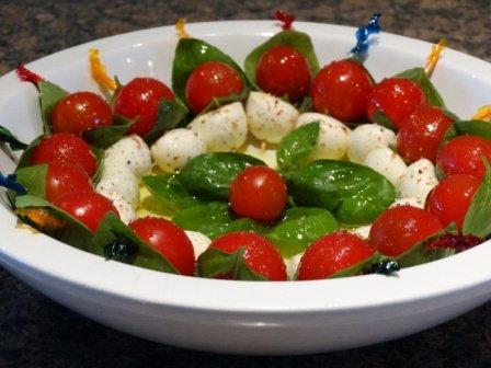 Mozzarella Tomato Bites