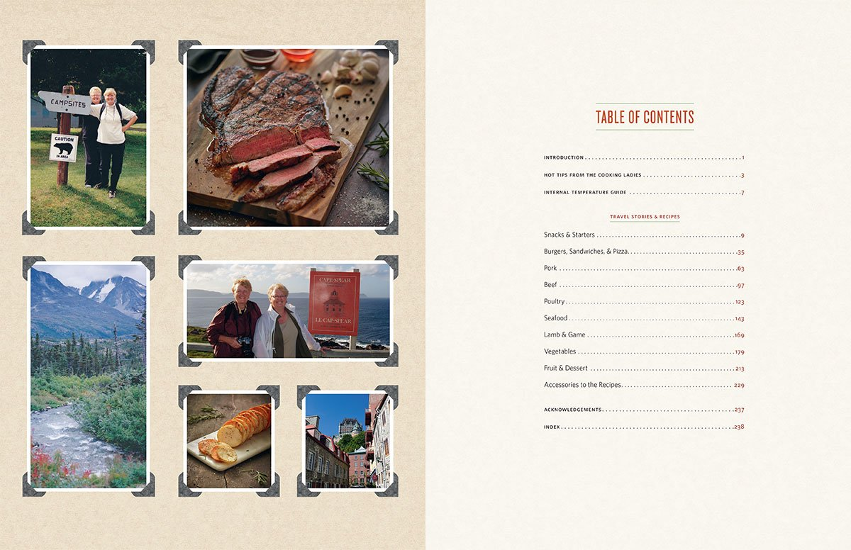 On The Road With The Cooking Ladies Cookbook by The Cooking Ladies - Table of Contents