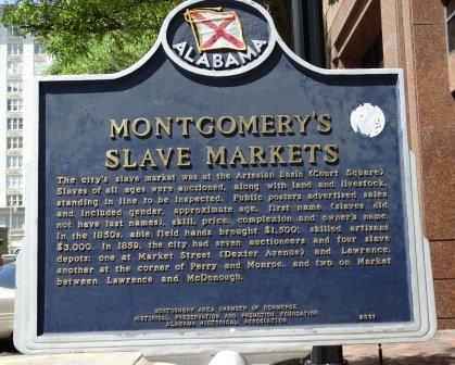 Slave Markets  Court Square Fountain